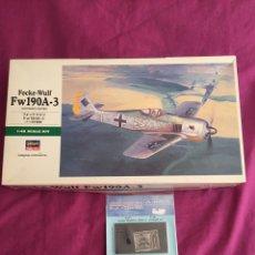 Maquetas: FOCKE-WULF FW 190 A-3 1:48 HASEGAWA FW-190 JT90 COCKPIT AIRES 4327 MAQUETA AVION. Lote 60815362