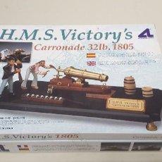 Macchiette: S9- H.M.S, VICTORYS CAÑON 32LB 1805 MAQUETA 1: 30 ARTESANIA LATINA NUEVO 2002. Lote 167349284