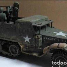 Maquetas: SEMIORUGA ANTIAÉREO M-16 AMERICANO 1/35 MONTADO Y PINTADO CON DETALLES G6. Lote 167546212