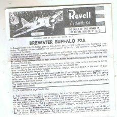 Maquetas: INSTRUCCIONES DE MONTAJE DEL BREWSTER BUFFALO DE REVELL ESCALA 1/72. Lote 167560212