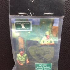 Maquetas: BRITISH TANKERS TROPICAL UNIFORM 1:35 LINCOLN COUNTY LINE LC 0013 MAQUETA FIGURAS CARRO DIORAMA. Lote 167841916