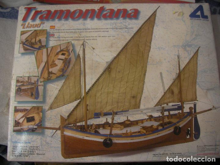 ANTIGUA MAQUETA TRAMONTANA LLAUD ARTESANIA LATINA (Juguetes - Modelismo y Radiocontrol - Maquetas - Barcos)