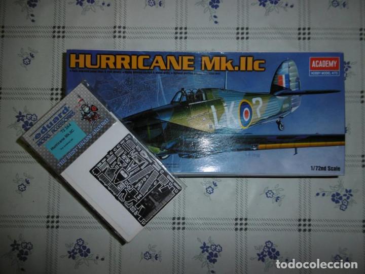 ACADEMY 1/72 HAWKER HURRICANE MK.IIC + KIT DE CALCAS EDUARD (Juguetes - Modelismo y Radio Control - Maquetas - Aviones y Helicópteros)