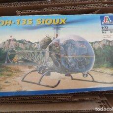 Maquetas: MAQUETA HELICOPTERO APACHE DE ITALERI OH-13S SIOUX REF 085 NUEVA SIN USAR. Lote 168208028