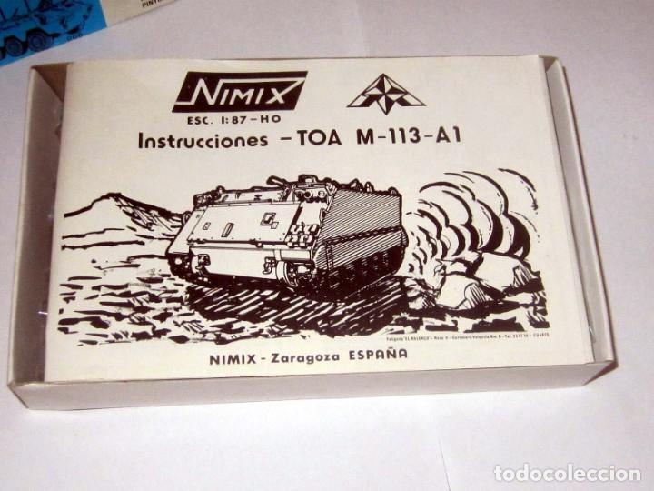 Maquetas: NIMIX TOA APC M-113-A1 ESCALA H0 MAQUETA NUEVA EN CAJA - Foto 4 - 168840508