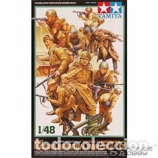 TAMIYA - WWII RUSSIAN INFANTRY & TANK CREW SET 1/48 35521 (Juguetes - Modelismo y Radiocontrol - Maquetas - Militar)