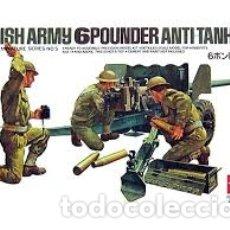 Maquetas: TAMIYA - BRITISH ARMY 6 POUNDER ANTI TANK GUN 1/35 35005. Lote 168973100
