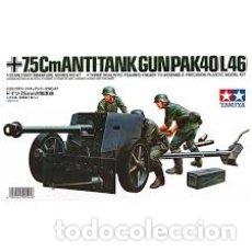 Maquetas: TAMIYA - 7,5CM ANTI TANK GUN PAK 40/L46 1/35 35047. Lote 168973248