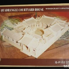 Maquetas: MAQUETA BEIJING QUADRANGLE COURTYARD HOUSE. WOODCRAFT CONSTRUCTION KIT. CONSTRUCCION CASA PEKIN. Lote 169544098