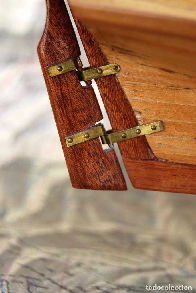 Maquetas: EMBLEMÁTICA MAQUETA DEL VELERO SWIFT 1805 ESCALA 1:50 CON URNA DE METACRILATO Y MADERA VER FOTOS - Foto 31 - 169594328