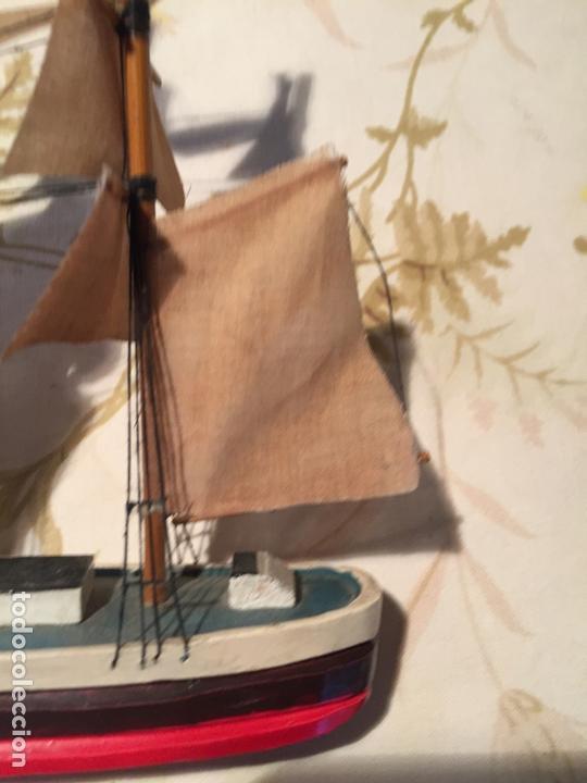 Maquetas: Antigua maqueta de barco velero de madera con velas, años 60 - Foto 3 - 169614296