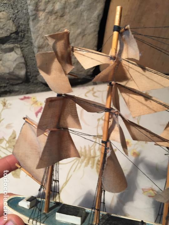 Maquetas: Antigua maqueta de barco velero de madera con velas, años 60 - Foto 8 - 169614296