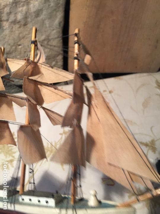 Maquetas: Antigua maqueta de barco velero de madera con velas, años 60 - Foto 9 - 169614296