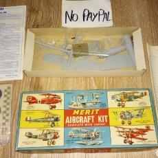 Maquetas: IÑI MERIT AIRCRAFT KIT 1969 AVIÓN DESCONOZCO SI ESTÁ COMPLETO MADE ENGLAND. Lote 169809626