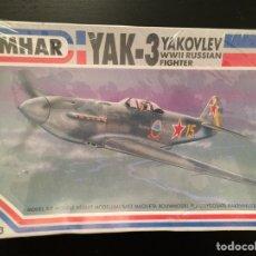 Maquetas: YAKOVLEV YAK-3 RUSSIAN FIGHTER 1:72 EMHAR EM2003 MAQUETA AVIÓN. Lote 171149832