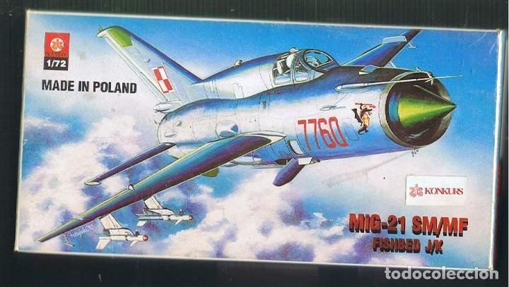 MIG-21 SM/MF. PLSTYK KONKURS ESCALA 1/72. MODELO NUEVO (Juguetes - Modelismo y Radio Control - Maquetas - Aviones y Helicópteros)