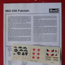 Maquetas: MIG-29 A. REVELL ESCALA 1/72 MODELO SIN CAJA. Lote 171922143
