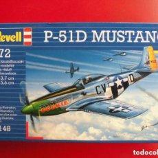 Maquetas: NORTH AMERICAN P-51 D. REVELL ESCALA 1/72 MODELO NUEVO.. Lote 172102210