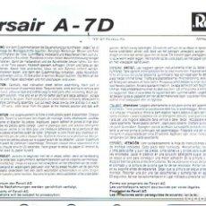 Maquetas: INSTRUCCIONES DE MONTAJE DEL VOUGHT A-7D DE REVELL ESCALA 1/72. Lote 172329655