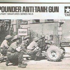 Maquetas: INSTRUCCIONES DE MONTAJE DEL 6 POUNDER AT GUN DE TAMIYA ESCALA 1/35. Lote 172384372
