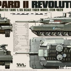 Maquetas: MAQUETA 1/35 - GERMAN MAIN BATTLE TANK REVOLUTION I LEOPARD II TIGER MODEL - NR. 4629 - 1:35. Lote 172684592