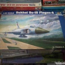 Maquetas: MAQUETA AVIÓN SUKHOI SU-15 FLAGON-A. 1:48. TRUMPETER 2002.. Lote 172755045
