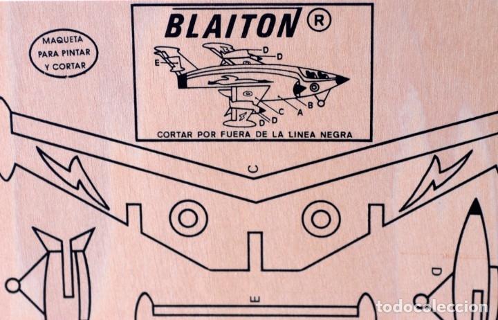 MAQUETA DE MADERA PARA RECORTAR Y PINTAR. AVIONETA MARCA BLAITON. MIDE 40 X 30 CM. NUEVA, A ESTRENAR (Juguetes - Modelismo y Radio Control - Maquetas - Aviones y Helicópteros)