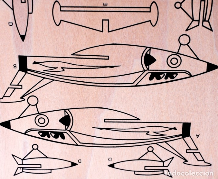 Maquetas: Maqueta de madera para recortar y pintar. Avioneta Marca Blaiton. Mide 40 x 30 cm. Nueva, a estrenar - Foto 2 - 172783085