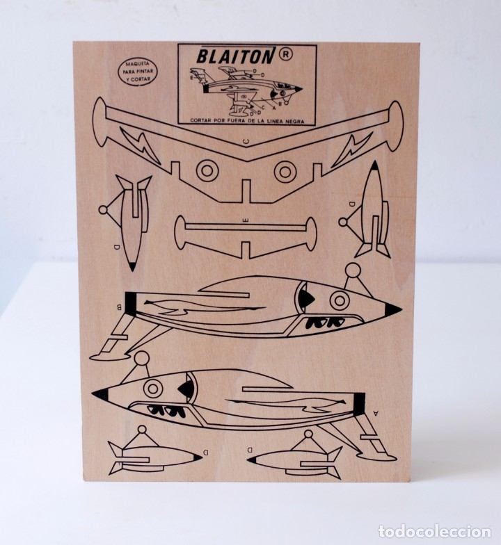 Maquetas: Maqueta de madera para recortar y pintar. Avioneta Marca Blaiton. Mide 40 x 30 cm. Nueva, a estrenar - Foto 3 - 172783085