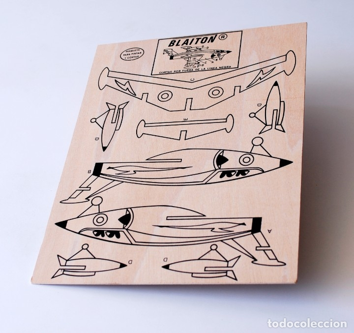 Maquetas: Maqueta de madera para recortar y pintar. Avioneta Marca Blaiton. Mide 40 x 30 cm. Nueva, a estrenar - Foto 4 - 172783085