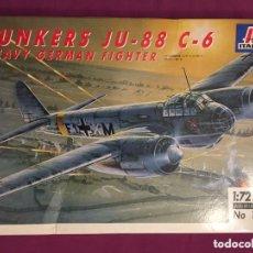 Maquetas: JUNKERS JU-88 C-6 1:72 ITALERI 1022 MAQUETA AVIÓN SICILIA UCRANIA. Lote 172936215