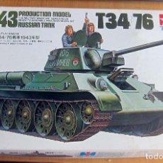 Maquetas: TAMIYA 1943 RUSSIAN TANK T34/76, ESCALA 1/35 A ESTRENAR. Lote 172939205