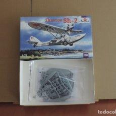 Maquetas: LOTE DE 7 MAQUETAS - 1 AMODEL 7216 SHAVROV SH-2 1/72 + 6 ZTS 1/72. Lote 173074845