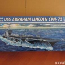 Maquetas: MAQUETA PORTAAVIONES NORTEAMERICANO - TRUMPETER 05732 USS ABRAHAM LINCOLN CVN-72 1/700. Lote 173128830