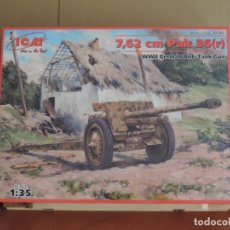Macchiette: MAQUETA CAÑON ANTICARRO ALEMAN - ICM 35701 7,62CM PAK 36(R) WWII GERMAN ANTI TANK GUN 1/35. Lote 222639042