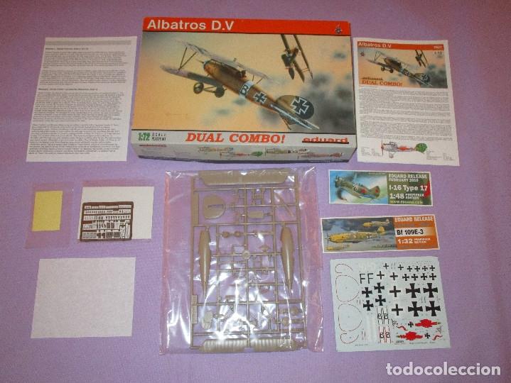 ALBATROS D.V - DUAL COMBO ! - 1:72 SCALE PLASTIC KIT - EDUARD - 7021 (Juguetes - Modelismo y Radio Control - Maquetas - Aviones y Helicópteros)