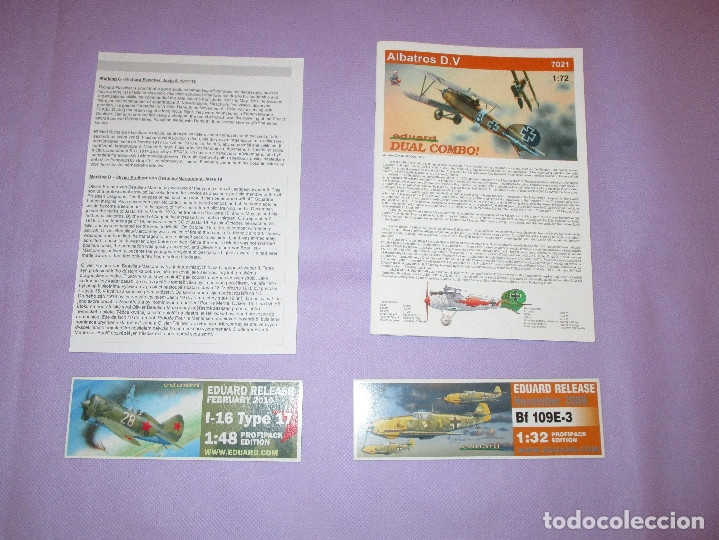 Maquetas: ALBATROS D.V - DUAL COMBO ! - 1:72 SCALE PLASTIC KIT - EDUARD - 7021 - Foto 2 - 173219875