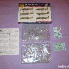Maquetas: MC.202 / MC.205 - 1:72 - ITALERI - Nº 1345 - AVIATION GLORY WWII ACES. Lote 173257029