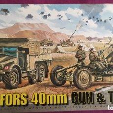 Maquetas: BOFORS 40 MM GUN & TRACTOR 1:76 AIRFIX 02314 MAQUETA CAÑÓN ANTIAÉREO AVIÓN DIORAMA AERÓDROMO 1:72. Lote 173510715