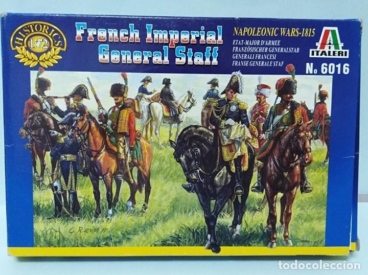 ITALERI - FRENCH IMPERIAL GENERAL STAFF NAPOLEONIC WARS 1815 REF 6016 TIPO MONTAMAN MAQUETA MILITAR (Juguetes - Modelismo y Radiocontrol - Maquetas - Militar)