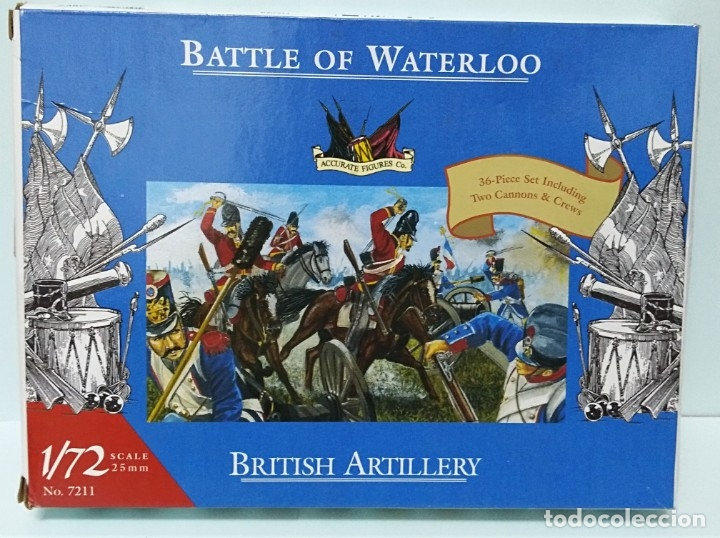 BATALLA BATTLE OF WATERLOO BRITISH ARTILLERY 1/72 ACCURATE FIGURES CO TIPO MONTAMAN MAQUETA MILITAR (Juguetes - Modelismo y Radiocontrol - Maquetas - Militar)