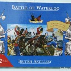 Maquetas: BATALLA BATTLE OF WATERLOO BRITISH ARTILLERY 1/72 ACCURATE FIGURES CO TIPO MONTAMAN MAQUETA MILITAR. Lote 173536789