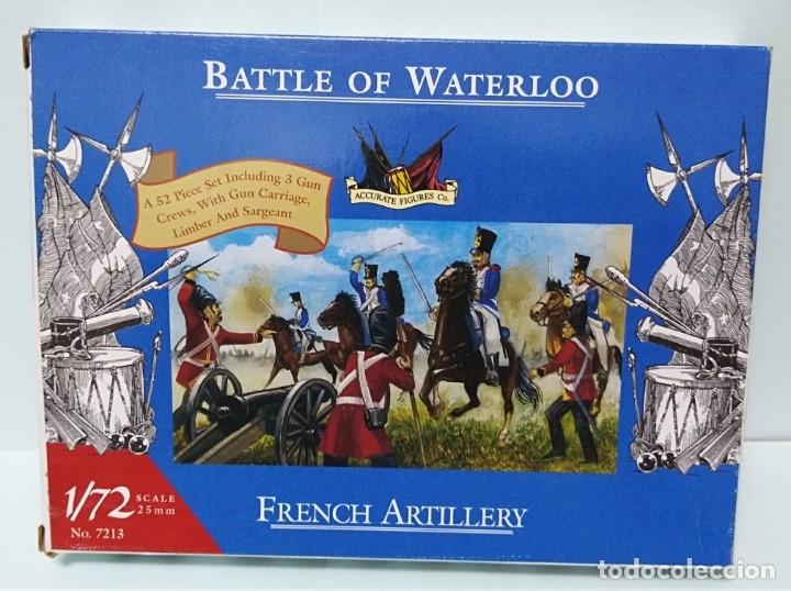 BATALLA BATTLE OF WATERLOO FRENCH ARTILLERY 1/72 ACCURATE FIGURES CO TIPO MONTAMAN MAQUETA MILITAR (Juguetes - Modelismo y Radiocontrol - Maquetas - Militar)