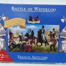 Maquetas: BATALLA BATTLE OF WATERLOO FRENCH ARTILLERY 1/72 ACCURATE FIGURES CO TIPO MONTAMAN MAQUETA MILITAR. Lote 173536815