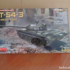 Maquetas: MINIART 37007 TANQUE T-54-3 MOD. 1951 1/35 CON INTERIORES.. Lote 122562735