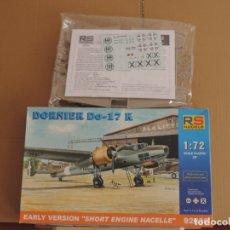 Maquetas: MAQUETA - RS MODELS 92030 DORNIER DO-17 K EARLY VERSION (SHORT ENGINE NACELLE) 1/72. Lote 83149812