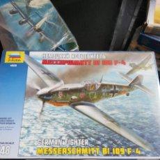 Maquetas: ZVEZDA 1/48 MESSERSCHMITT BF 109 F-4. Lote 173622079