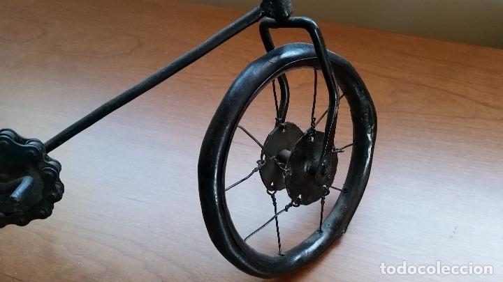 Maquetas: Maqueta bicicleta de paseo -artesanal-. Años 80. Hierro. Miniatura - Foto 3 - 173667345