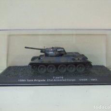 Maquetas: TANQUE RUSO T-34/76 - ALTAYA ESCALA 1:72 CARRO DE COMBATE T34 EJÉRCITO SOVIÉTICO BLINDADO. Lote 173861019