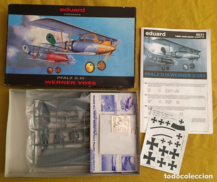 Maquetas: PFALZ D.III WERNER VOSS 1:48 EDUARD 8031 maqueta avión WWI - Foto 4 - 173981902